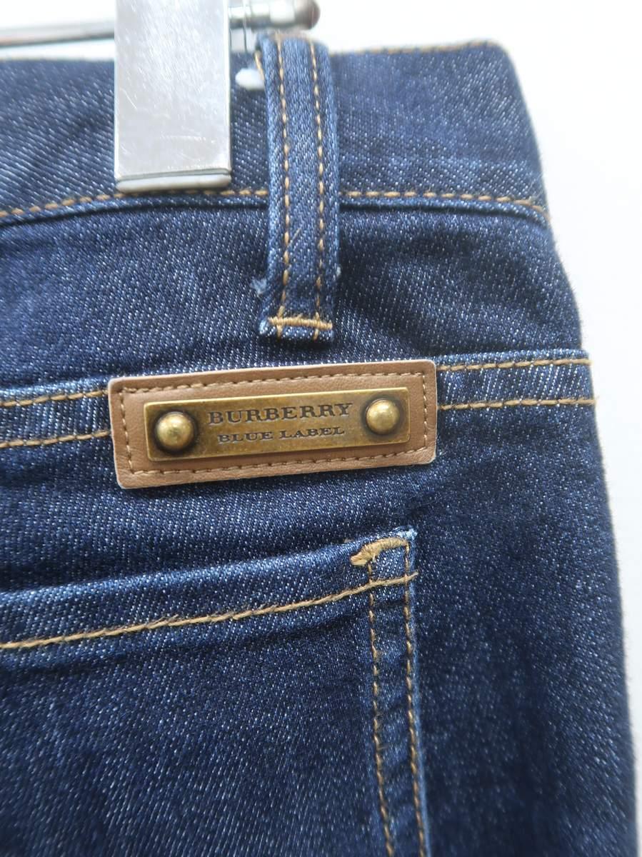 BURBERRY BLUE LABEL(バーバリーブルーレーベル)濃紺デニム 青 レディース Aランク 38 [委託倉庫から出荷]