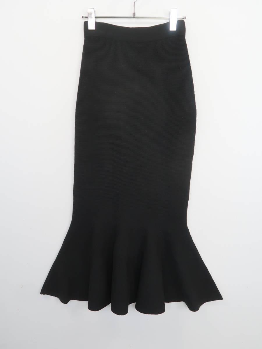 【送料無料】eimy istoire(エイミーイストワール)[2019]ニットマーメイドスカート 黒 レディース Sランク F [委託倉庫から出荷]