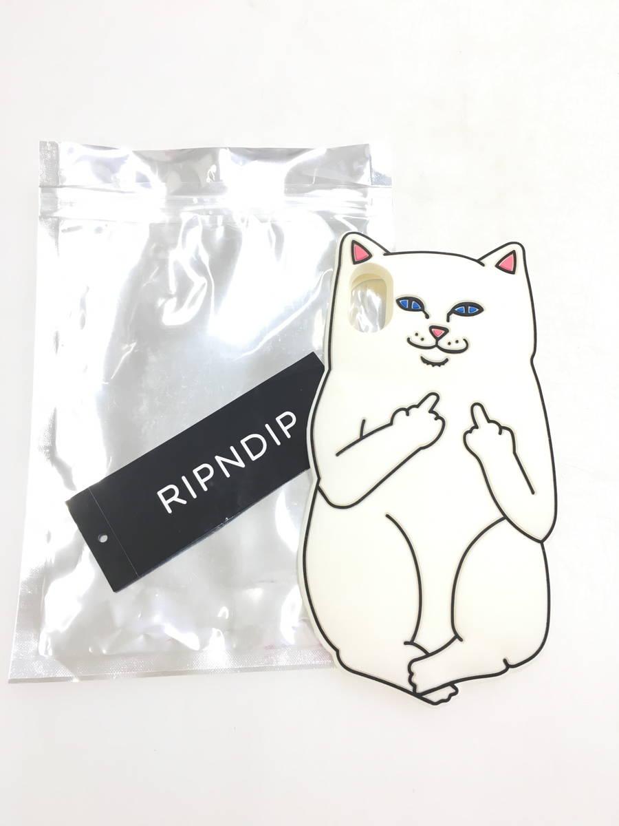 RIPNDIP(リップンディップ)ラバーiPhoneケース 白 レディース Aランク