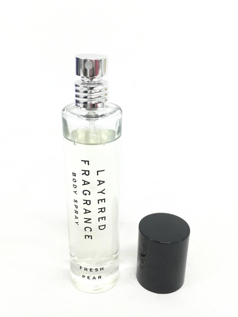LAYERED FRAGRANCE(レイヤードフレグランス)ボディスプレー #FRESH PEAR / 香水  レディース 新品 30ml [委託倉庫から出荷]