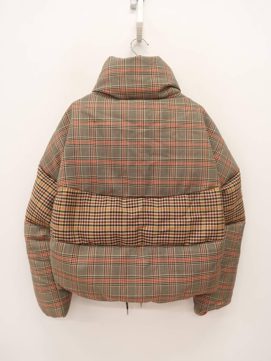 【送料無料】MONCLER(モンクレール)Cer checked wool-blend jacket 長袖 ベージュ/赤 レディース 新品 0 [委託倉庫から出荷]