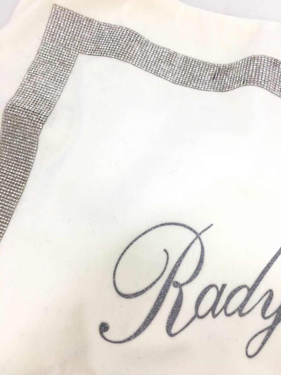 Rady(レディー)ビジューラインクッションカバー 白/シルバー レディース A-ランク F [委託倉庫から出荷]