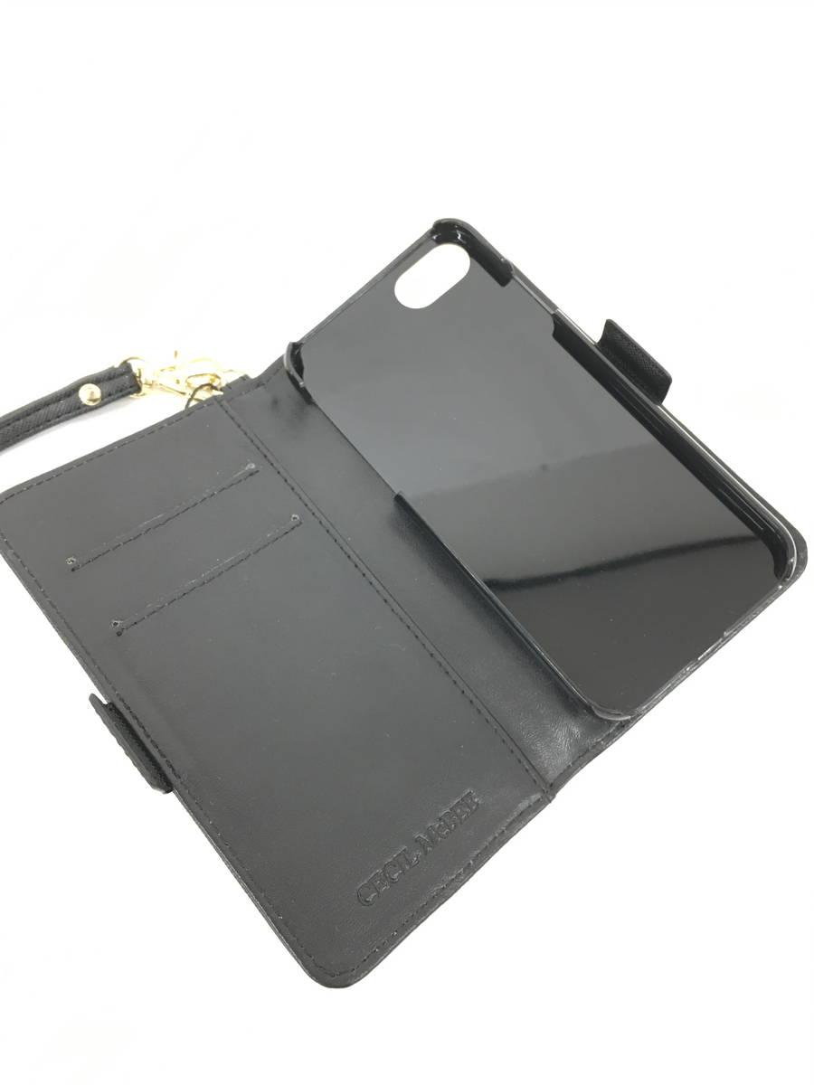 CECIL McBEE(セシルマクビー)パイソンデザイン手帳型スマホケース 黒/グレー レディース 新品