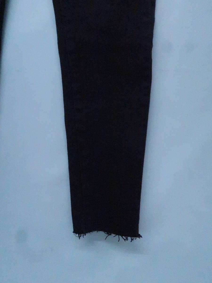 eimy istoire(エイミーイストワール)BLACKレースアップデニムパンツ 黒 レディース 新品 25 [委託倉庫から出荷]