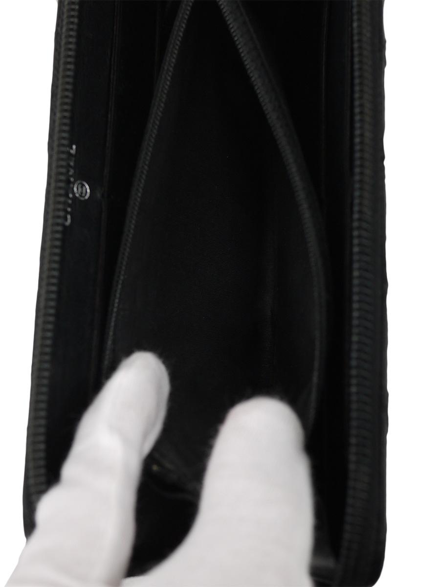 【送料無料】CHANEL(シャネル)ヴィンテージ ビコローレ ラウンドファスナー長財布 ダブルステッチ ココマーク 黒 レディース Aランク [当店倉庫から出荷]