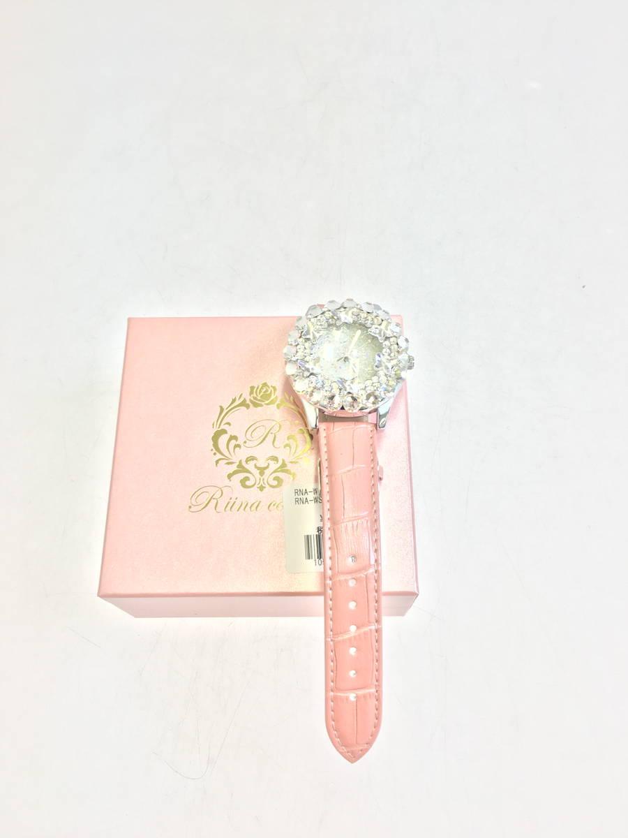 【送料無料】Riina couture(リーナクチュール)ビジューストーンウォッチ ピンク レディース Sランク