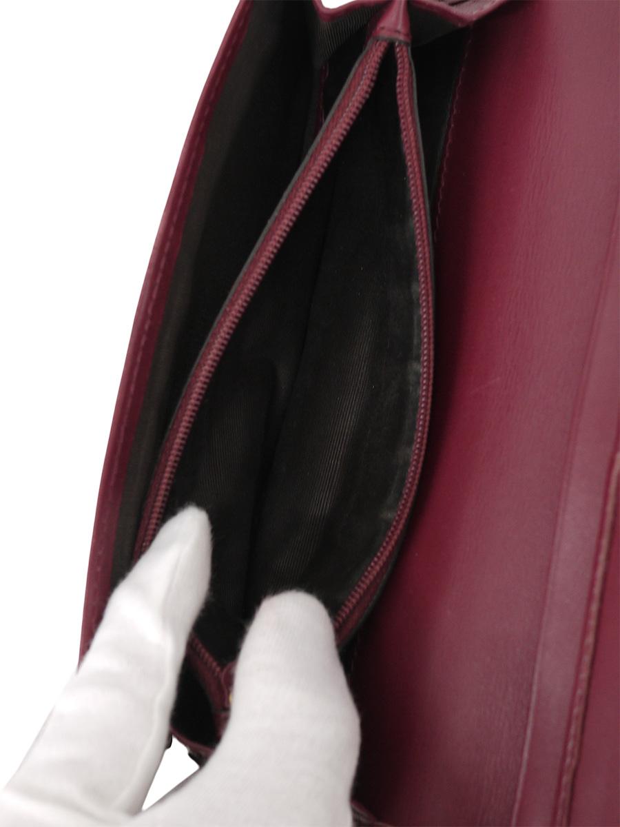 【送料無料】GUCCI(グッチ)グッチシマレザー 二つ折り長財布 305282 赤 レディース Aランク [当店倉庫から出荷]