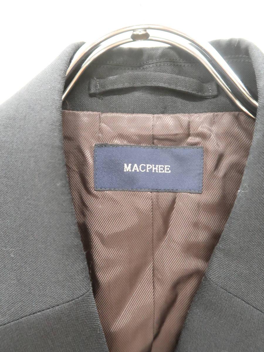 MACPHEE(マカフィー)ダブルボタンジャケット 長袖 黒 レディース Aランク 38 [委託倉庫から出荷]