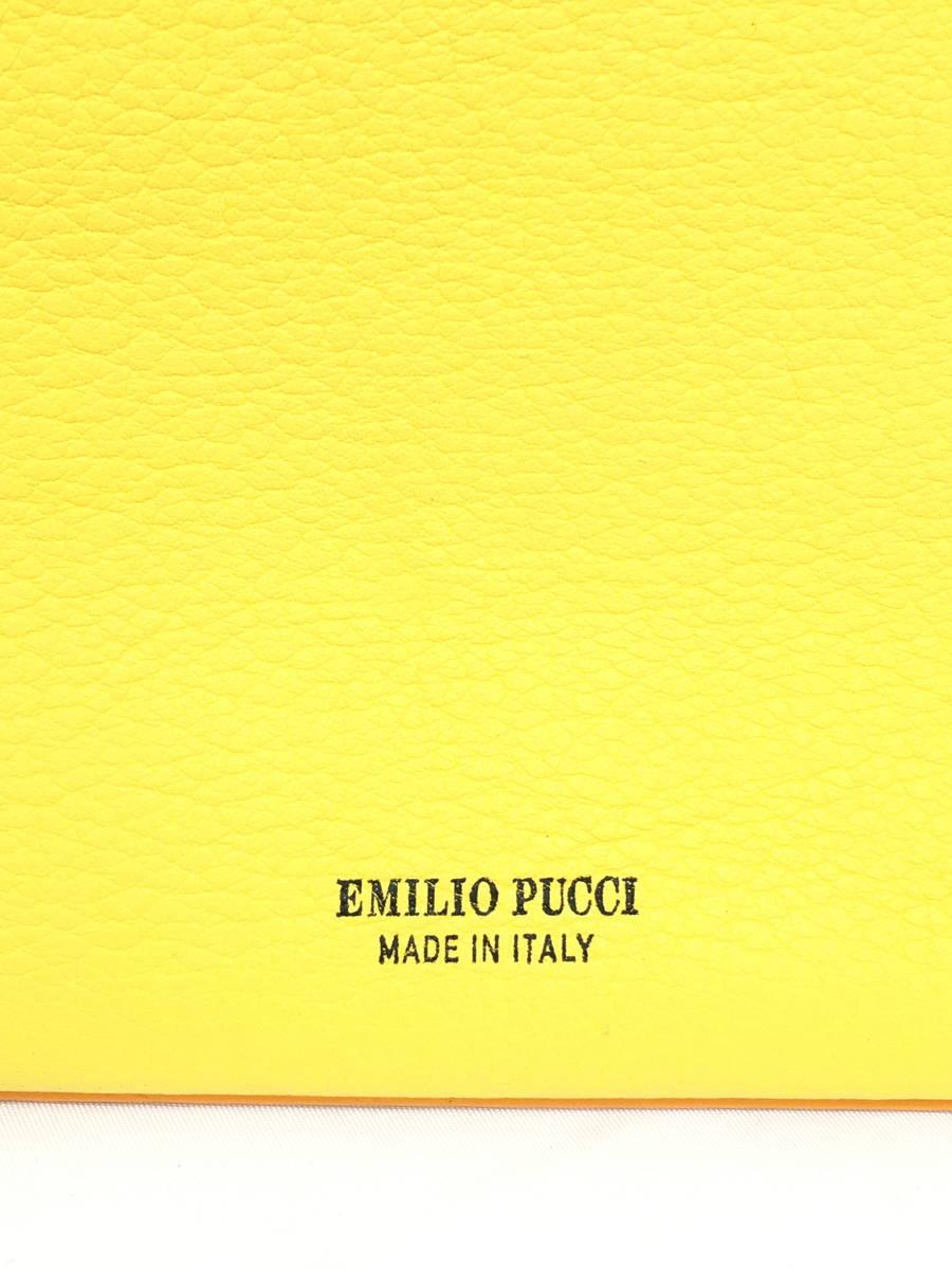 EMILIO PUCCI(エミリオプッチ)ミニウォレットロゴクラッチバッグ 黄/オレンジ レディース Sランク