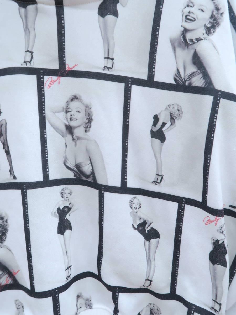 eimy istoire(エイミーイストワール)Marilyn Monroe filmパーカー 長袖 白 レディース A-ランク F [委託倉庫から出荷]
