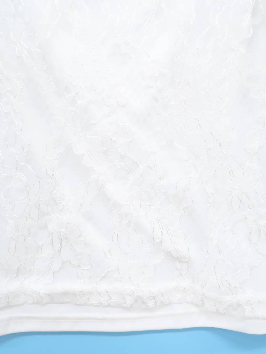 MISCH MASCH(ミッシュマッシュ)パワーショルダー総レースブラウス 五分袖 白 レディース Aランク M