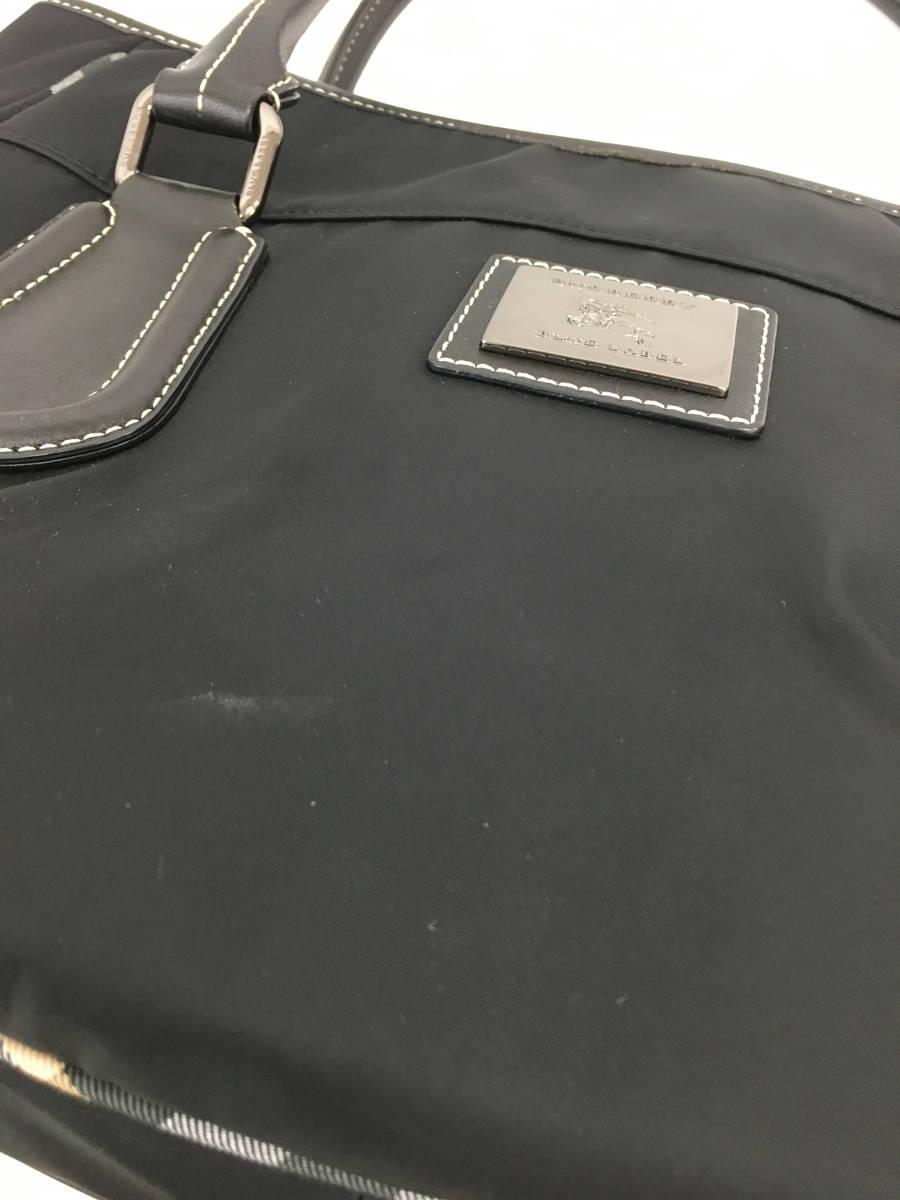 BURBERRY BLUE LABEL(バーバリーブルーレーベル)ナイロントートバッグ 黒 レディース A-ランク [委託倉庫から出荷]
