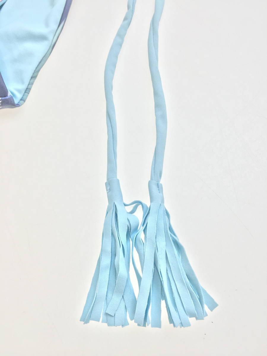 ALEXIA STAM(アリシアスタン)ハイウエストビキニ 青 レディース 新品 L