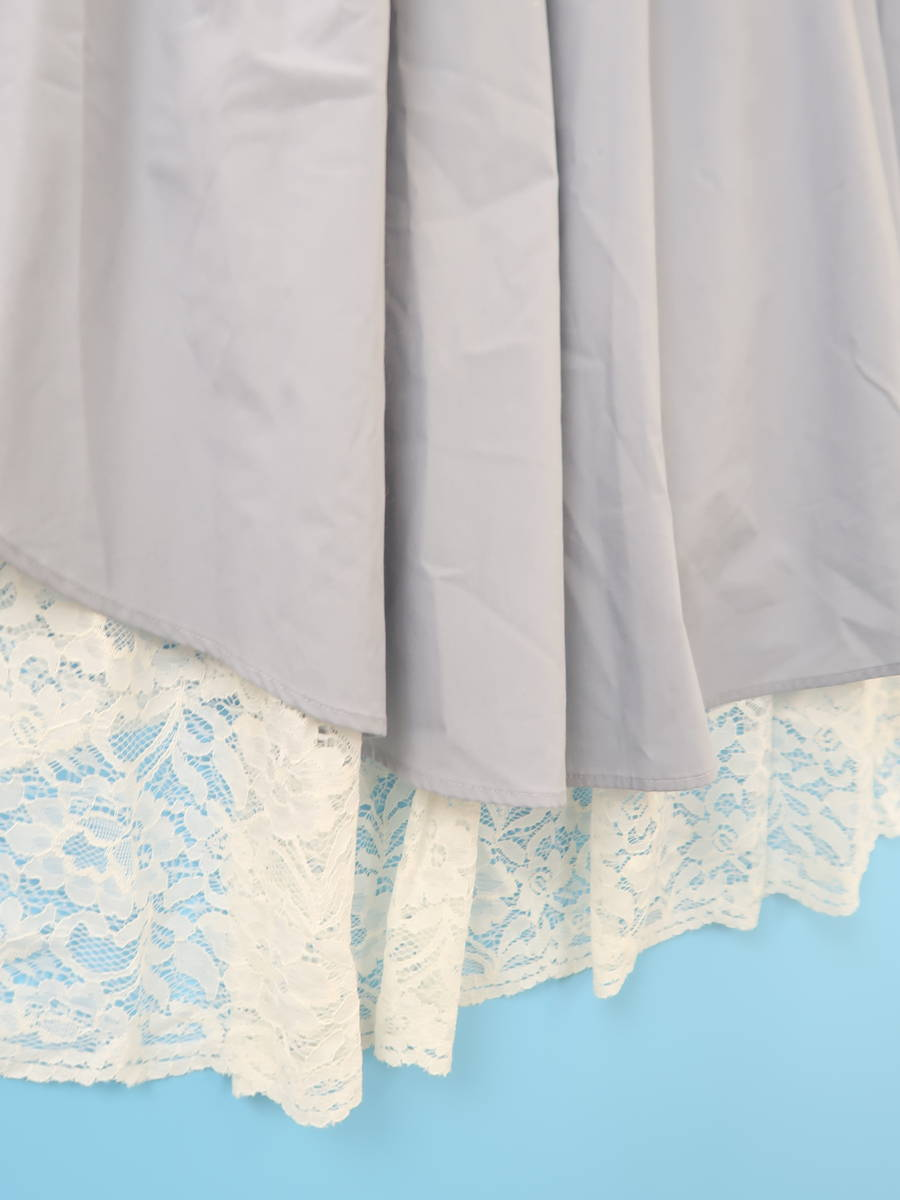 eimy istoire(エイミーイストワール)レイヤードボリュームレーススカート 青/白 レディース 新品 S