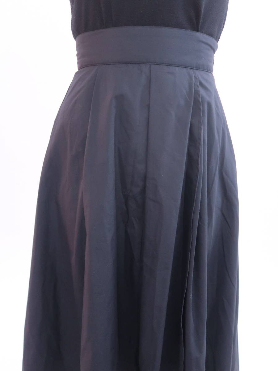 eimy istoire(エイミーイストワール)ベーシックフレアスカート 黒 レディース Aランク S [委託倉庫から出荷]