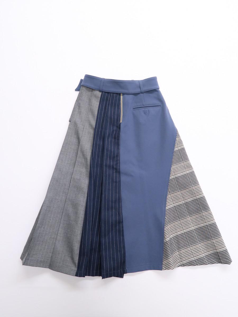 REDYAZEL(レディアゼル)異素材Mixスカート 青 黒 レディース Aランク S