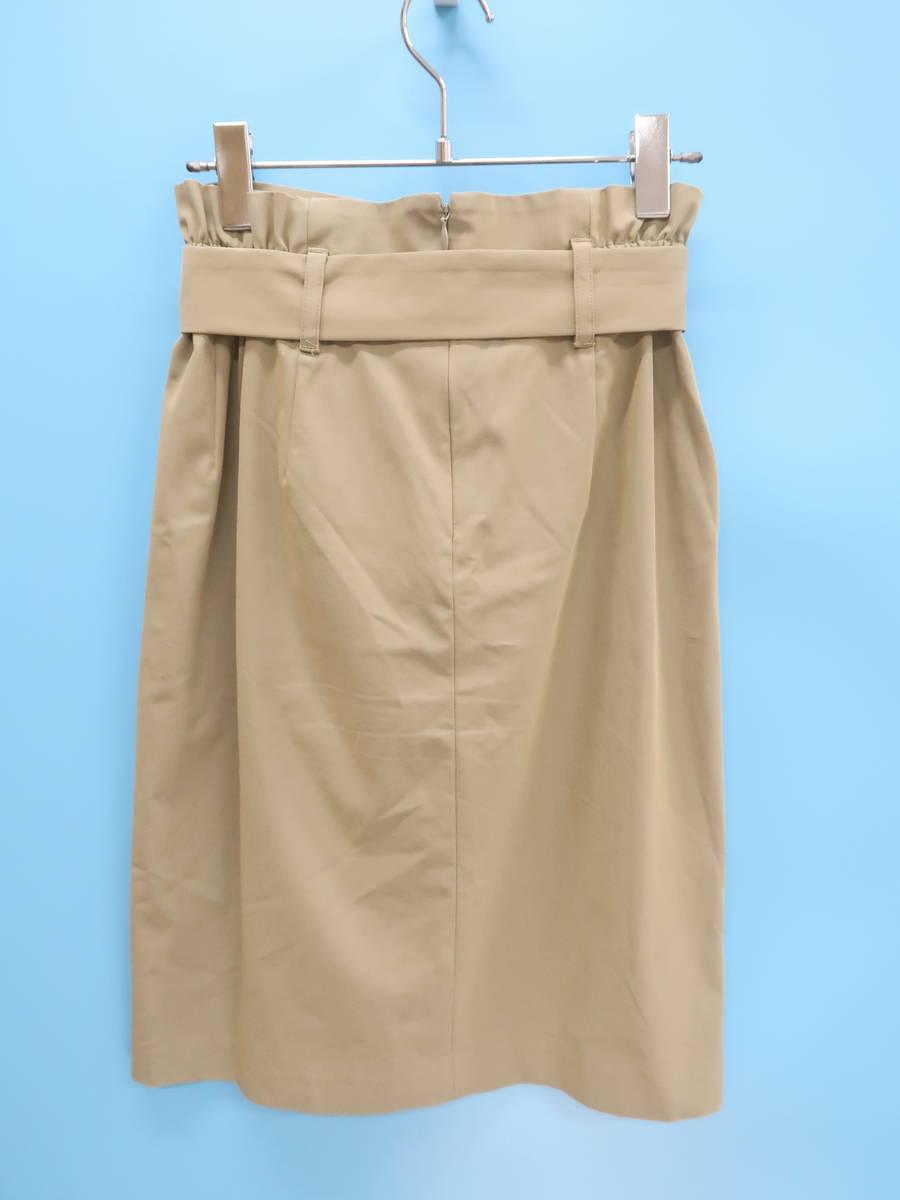 BABYLONE(バビロン)ウエストリボンタイトスカート ベージュ レディース Aランク 36 [委託倉庫から出荷]