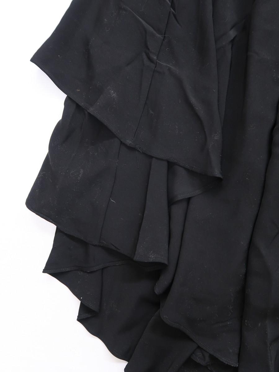 eimy istoire(エイミーイストワール)バックロングティアードスカート 黒 レディース 新品 F [委託倉庫から出荷]