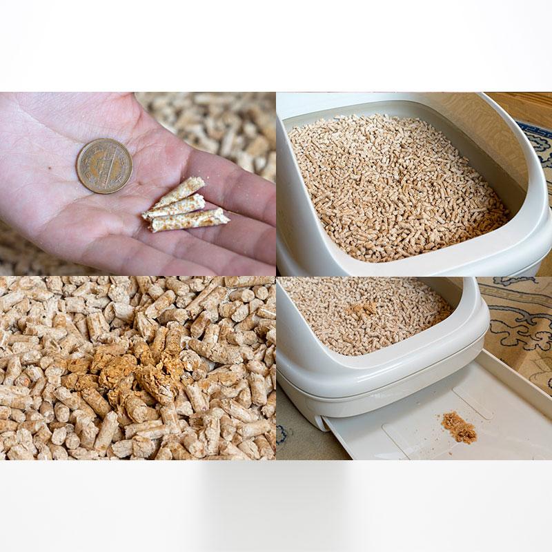 国産ひのきとすぎからつくった天然由来の猫砂