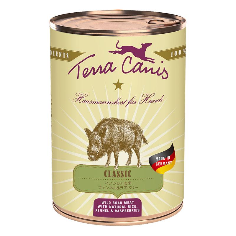 テラカニス クラシックイノシシ玄米入り缶