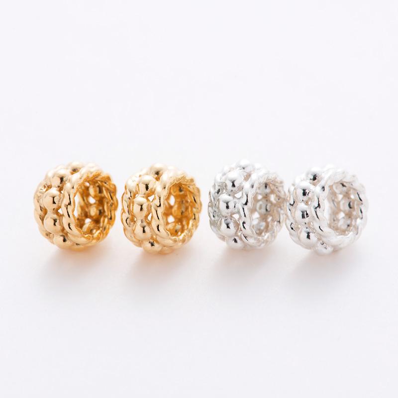 Magical Star Charm Design Beads : シンプルビーズ [ゴールド / シルバー]