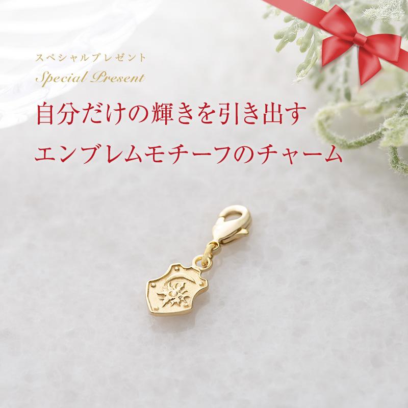 獅子座新月ジュエリー : ピアス