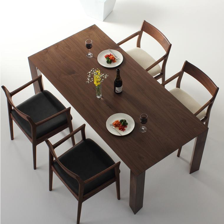 ダイニングテーブル 幅85cm〜180cm 高さ65cm〜74cm ウォールナット材 シャープ 食堂テーブル 北欧 和モダン デザイン デザイナー おしゃれ 人気 手作り diy 木製 天然木 日本製 国産 モダン ナチュラル シンプル 家具職人 家具メーカー