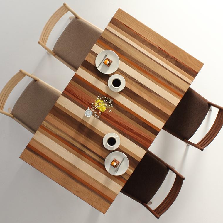 ダイニングテーブル 幅85cm〜180cm 高さ65cm〜74cm モロッコ カラフル 楽しい シャープ 食堂テーブル 無垢材 北欧 和モダン デザイン デザイナー おしゃれ 人気 手作り diy 木製 天然木 日本製 国産 モダン ナチュラル シンプル 家具職人 家具メーカー