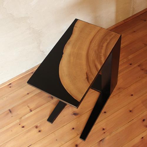 サイドテーブル 楠年輪突板貼り ブラック 黒塗り コーヒーテーブル ティーテーブル ソファーテーブル ローテーブル リビングテーブル センターテーブル ソファーテーブル 和モダン 和風モダン 北欧 おしゃれ おすすめ 日本製 国産 デザイナー 木製 天然木 ナチュラル