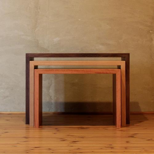 ネストテーブル サイドテーブル コーヒーテーブル ティーテーブル ソファーテーブル  モロッコ カラフル 楽しい 和モダン 和風モダン 北欧 おしゃれ おすすめ 日本製 国産 デザイン デザイナー 木製 天然木 家具職人 diy 長方形 ナチュラル モダン