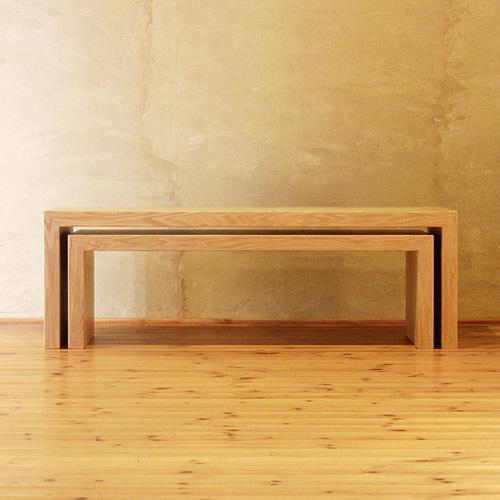 ネストテーブル 幅120cm ホワイトオーク材 入れ子テーブル デスク 展示台 置台 花台 ローテーブル リビングテーブル センターテーブル ソファーテーブル 和モダン 和風モダン 北欧 おしゃれ おすすめ 日本製 国産 デザイナー 木製 天然木 家具職人 diy ナチュラル モダン