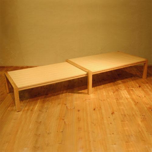 ローテーブル 幅120cm〜幅212cm ホワイトオーク材 伸縮式ダイニングテーブル 伸長式ダイニングテーブル エクステンション 拡張式 リビングテーブル センターテーブル ソファーテーブル 和モダン 和風モダン 北欧 おしゃれ おすすめ 日本製 国産 デザイナー 木製 天然木