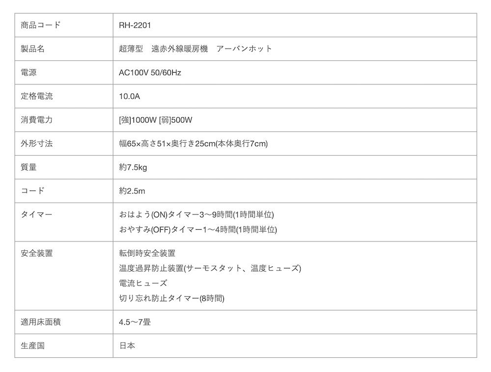 【20%OFF!!】アーバンホット・2021新モデル(遠赤外線暖房機)【取寄】