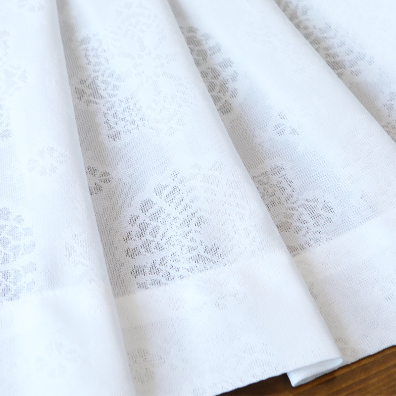 【オーダー】UV遮熱ミラーレースカーテン(オーナメント) 1枚
