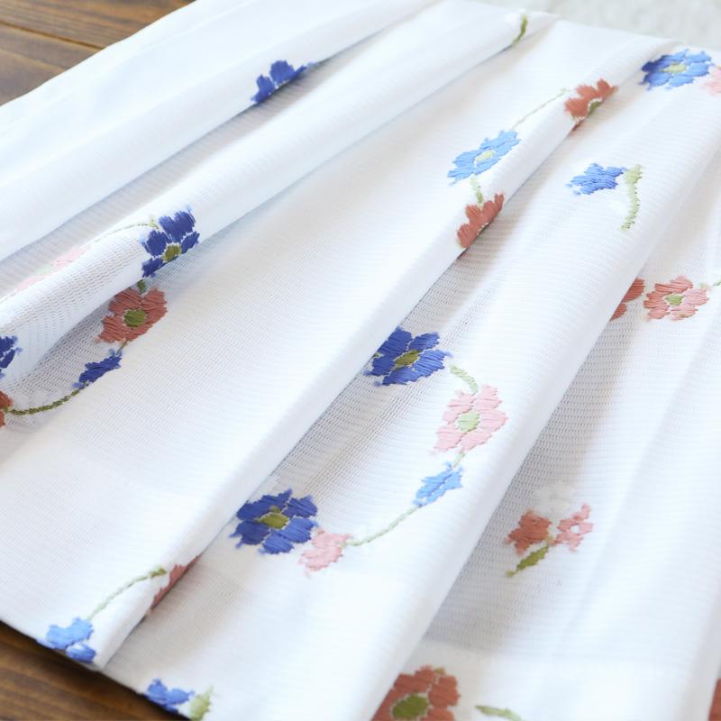 【オーダー】UVミラーレースカーテン(フラワーブーケ) 1枚
