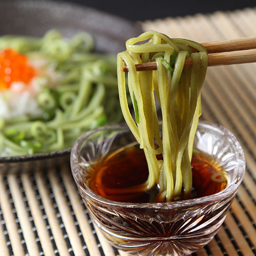 モロヘイヤ角打ち麺 5食(つゆ付)×10箱【送料無料】