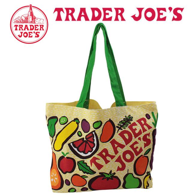 Trader Joe's トレーダージョーズ トートバッグ(エコバッグ) ベジタブル柄  【メール便 送料無料】