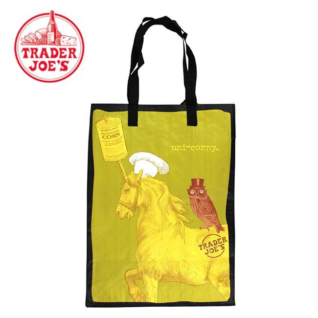 Trader Joe's トレーダージョーズ エコバッグ ユニコーン&フクロウ/メガネザル 柄  【メール便 送料無料】