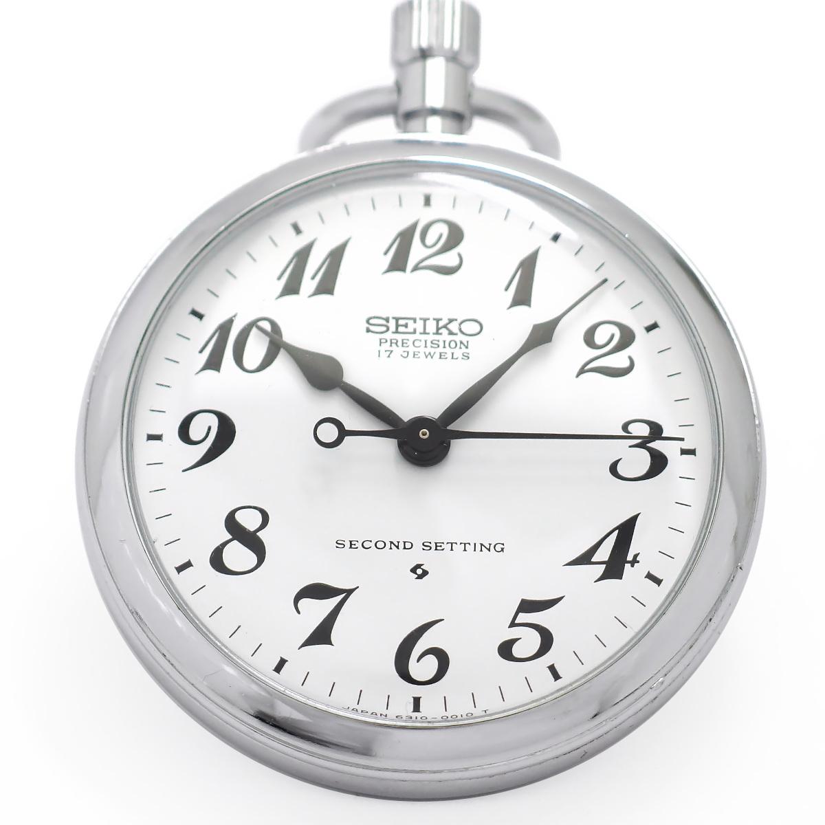 セイコー 鉄道時計 東南鉄 6310-0010 Cal.6310A 17石 手巻 OH済 昭和53年/1978年製