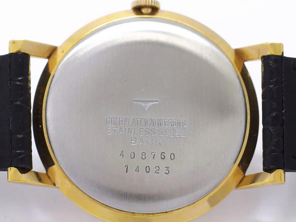 タカノ プレシジョン Ref.14023 金メッキケース 段付き文字盤 純正尾錠付き 17石 手巻 OH済 1959年頃 RC-037A