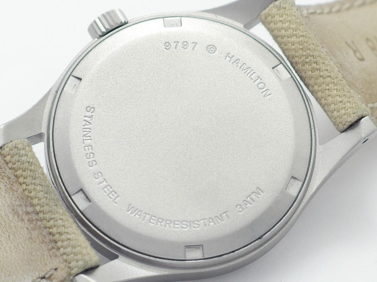 ハミルトン カーキ 9797 ブラック文字盤 クオーツ USED