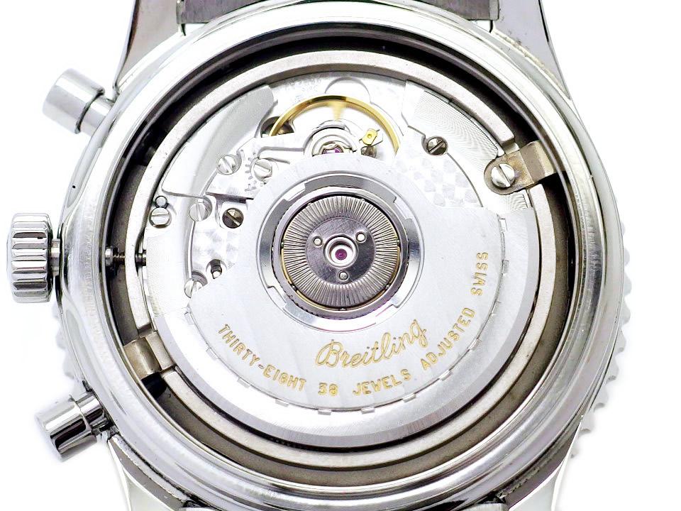 【珍品】ブライトリング ナビタイマー モンブリラン A41030 黒文字盤 38石 自動巻 OH済 1999年頃 USED