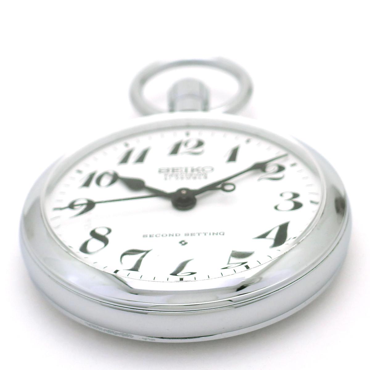 セイコー プレシジョン 懐中時計 6110-0010 紐つき Cal.6110A 21石 手巻 OH済 昭和52年/1977年製 Seiko