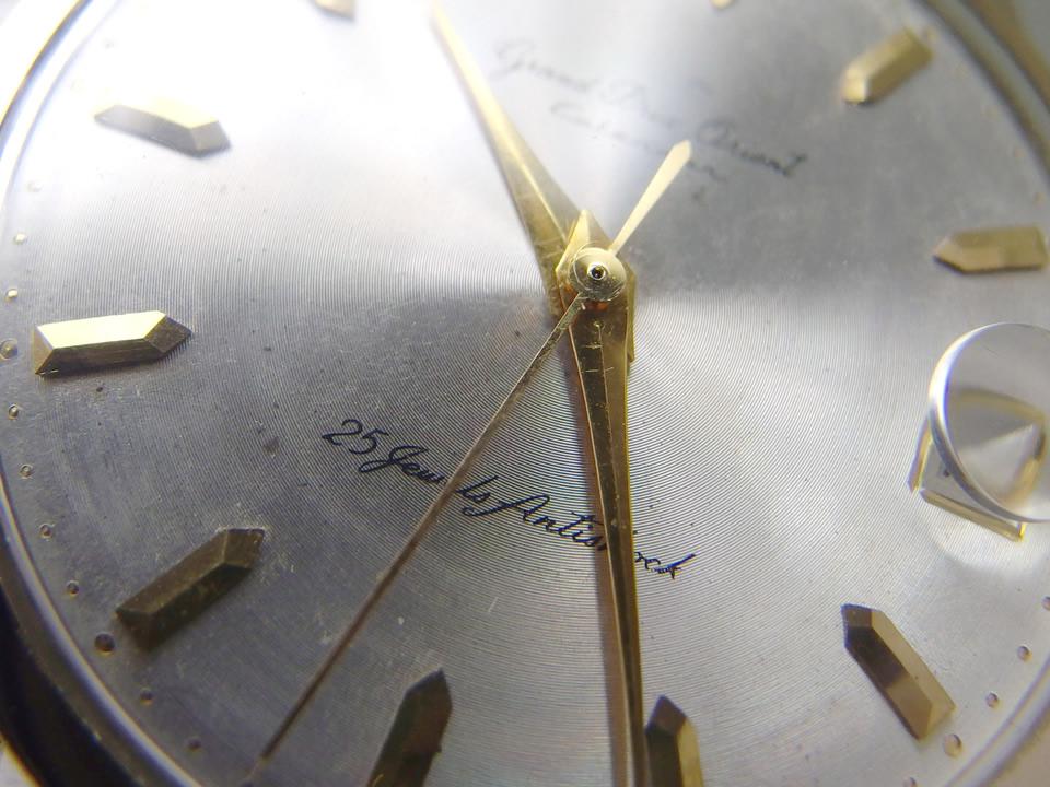 グランプリオリエント カレンダー S84063 14K金張り 25石 手巻 OH済 1961年頃