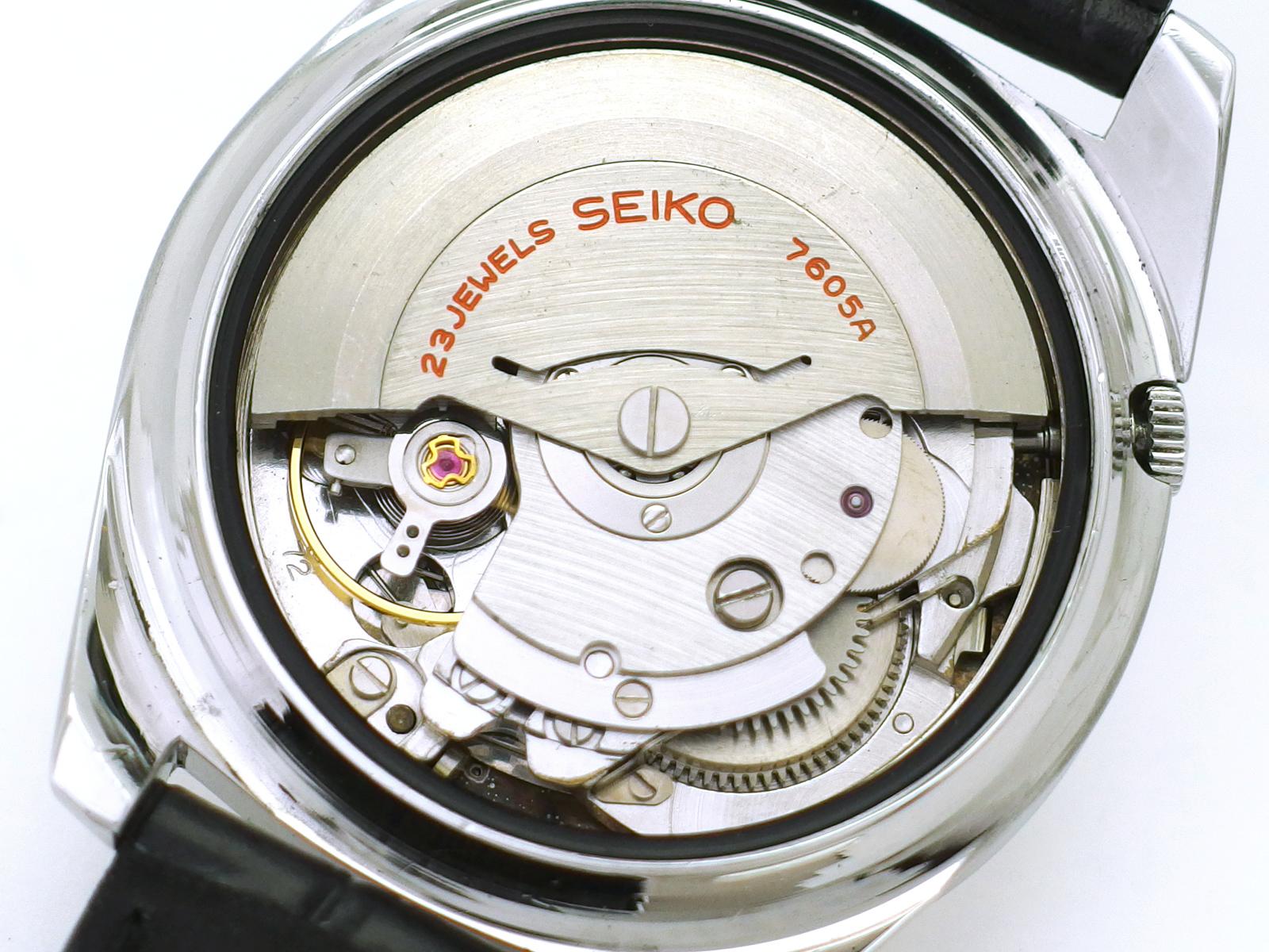 セイコー スポーツマチック デラックス 7605-8000 自動巻 OH済 昭和41年/1966年製 Seiko