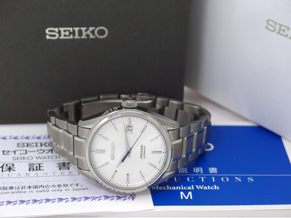 セイコー プレサージュ SARX055 6R15-04A0 チタン製 自動巻 現行品 2019年購入 USED Seiko