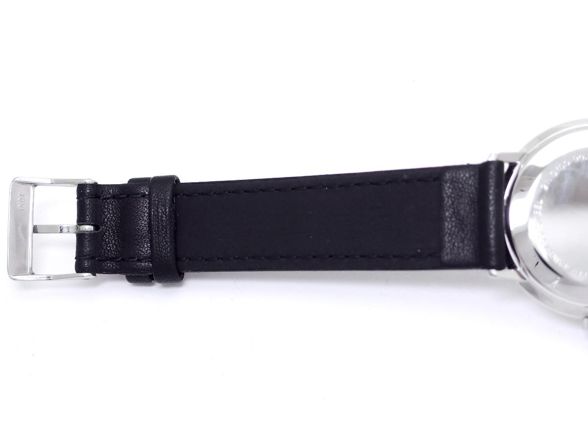 ユンハンス マックスビル デザイン 27.3700.902 34mm ステンレス ノンデイト 手巻き USED