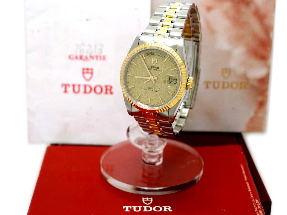 チュードル プリンス デイデイト Ref.76213 シャンパンモザイク文字盤 自動巻 OH済 2002年頃 Tudor