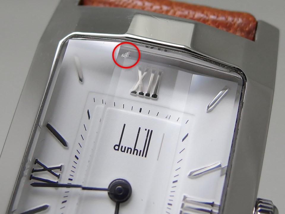 ダンヒル ファセット ダンヒリオン TYQT 白文字盤 ステンレスケース 3面カットガラス クオーツ 1990年代 USED