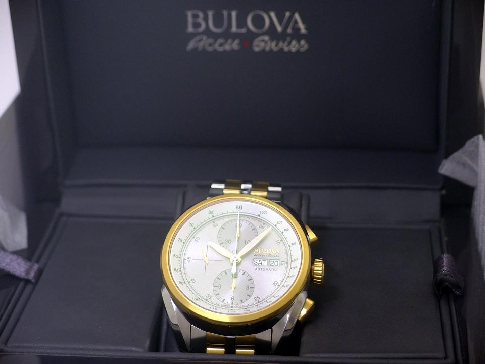 【美品】ブローバ アキュスイス スイス製 Ref.65C117 クロノグラフ 自動巻 USED Bulova